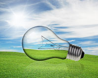 Concepts in light bulb Stock Image