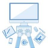 Concepts linéaires plats d'illustration de vecteur de conception Photo libre de droits