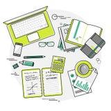 Concepts linéaires plats d'illustration de vecteur de conception de Image libre de droits
