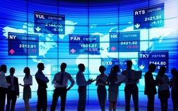 Concepts marchands du marché de bourse des valeurs  Images libres de droits