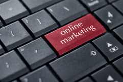 Concepts of online marketing Royalty Free Stock Image