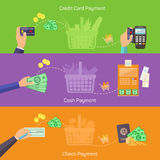 Concepts for online shopping, delivery and payment Royalty Free Stock Photos