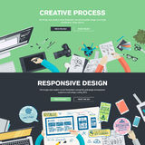 Concepts plats d'illustration de conception pour le graphique et le web design Images libres de droits