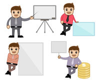 Concepts & Poses - Office and Business Cartoon Character Vector Illustration. Drawing Art of Cartoon Young Businessman Characters with Various Concepts Stock Photo
