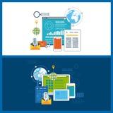Concepts pour des analytics d'affaires, planification de stratégie, gestion des projets, recherche de marché Images stock