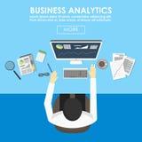 Concepts pour des statistiques commerciales et des analytics illustration stock