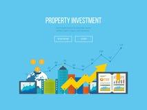 Concepts pour l'analyse commerciale, le rapport financier et la stratégie Investissement de propriété illustration libre de droits