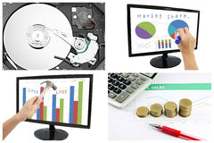 Concepts of profit and share data in the business. Royalty Free Stock Photo