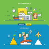 Concepts for Project management and Career growth. Royalty Free Stock Photos