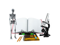 Concepts of school and education biology 3d render on white back Royalty Free Stock Photo