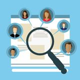 Concepts for Searching people, employees, candidates, team members.  Royalty Free Stock Photo