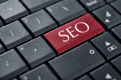 Concepts of SEO. SEO concepts, with message on enter key of keyboard Royalty Free Stock Photography