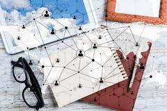 Concepts sociaux de connexion et de mise en réseau photos libres de droits