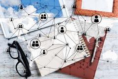 Concepts sociaux de connexion et de mise en r?seau image stock
