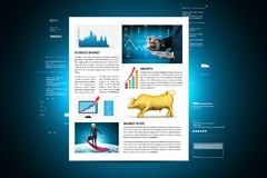Concepts for Stock market News Royalty Free Stock Photo