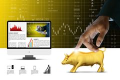 Concepts for Stock market online News Stock Images