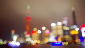 Shanghai the bund night skyline stock footage
