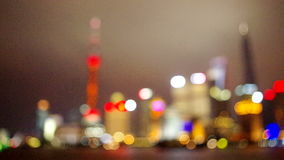 Shanghai the bund night skyline stock video footage