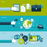 Concepts for web banners and printed materials Stock Images