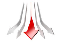 Conceptual 3d rendered image of arrow isolated Royalty Free Stock Photo