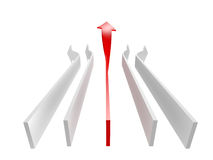 Conceptual 3d rendered image of arrow isolated Royalty Free Stock Photography