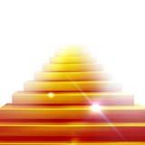 Conceptual 3d stair climbing to a leader. Conceptual gold stair climbing to a leader Royalty Free Stock Photo