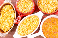 Conceptual above close view of cheese macaroni Stock Photo