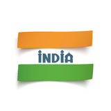 Conceptual abstract Indian flag. Royalty Free Stock Photography