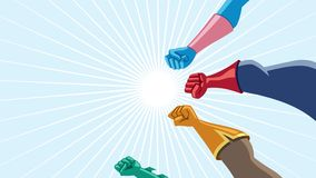 Superhero Team Assemble Animation