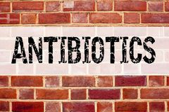 Conceptual announcement text caption inspiration showing Antibiotics. Business concept for Health care Prescription drug medicatio Royalty Free Stock Photography