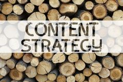 Conceptual announcement text caption inspiration showing Content Strategy Business concept for Network Website Information Managem. Ent written on wooden stock image