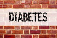 Conceptual announcement text caption inspiration showing Diabetes. Business concept for Disease Medical Insulin written on old bri. Ck background with space Stock Images
