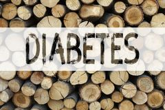 Conceptual announcement text caption inspiration showing Diabetes Business concept for Disease Medical Insulin written on wooden b. Ackground with space Stock Images