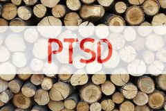 Conceptual announcement text caption inspiration showing PTSD Post-Traumatic Stress Disorder  Business concept for Health Treatmen. T written on wooden Royalty Free Stock Photo