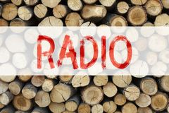 Conceptual announcement text caption inspiration showing Radio Business concept for Media and Education written on wooden backgrou Royalty Free Stock Photos