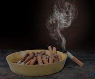 Conceptual antismoking background. Stop smoking now Stock Photos
