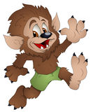 Cute Werewolf - Cartoon Character - Vector Illustration Stock Images