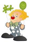 Joker - Cartoon Character - Vector Illustration. Conceptual Art Drawing of Funny Cute Cartoon Circus Joker Character with Balloons Vector Illustration vector illustration