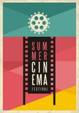 Conceptual artistic poster design for summer cinema Royalty Free Stock Images