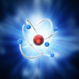Conceptual atom model Royalty Free Stock Photo