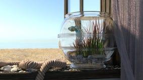 Conceptual background with beach sea, Royalty Free Stock Photos