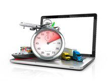 Conceptual background of fast timely Royalty Free Stock Image