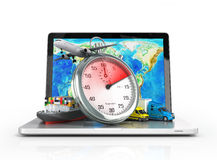 Conceptual background of fast timely Royalty Free Stock Photo