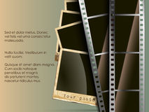 The conceptual background of film with a photo. The conceptual background of old technology. film with a photo Stock Images