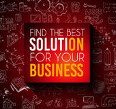 Conceptual background: find the best solution for your business. Stock Photography