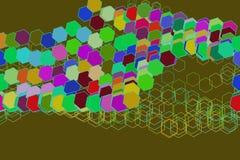 Conceptual background hexagon pattern for design. Creative, backdrop, canvas & style. Conceptual background hexagon pattern for design. Vector illustration Stock Images