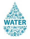 Conceptual background of pure water. Stock Photos