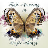 Conceptual background with vector realistic butterfly  find ama Stock Photos