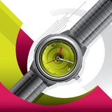 Conceptual background with watch Royalty Free Stock Photo