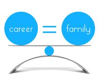 Conceptual balance of career and family Royalty Free Stock Photo